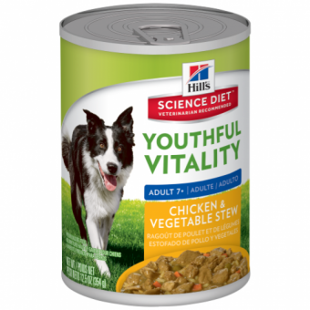 Hills Canine Youthful Vitality Large Breed stew tins 354g