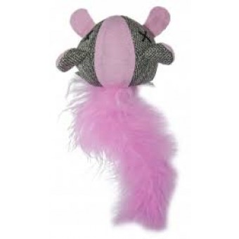 Bestpet Glow/Dark Mouse Feather Pink