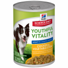 Hills Canine Youthful Vitality chicken and veg stew tins 354g