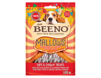 Beeno Mallows Strawberry And Yoghurt Flavour Swirl 120g
