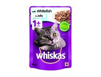 Whiskas with White Fish in Jelly 85g x 12 Pouches